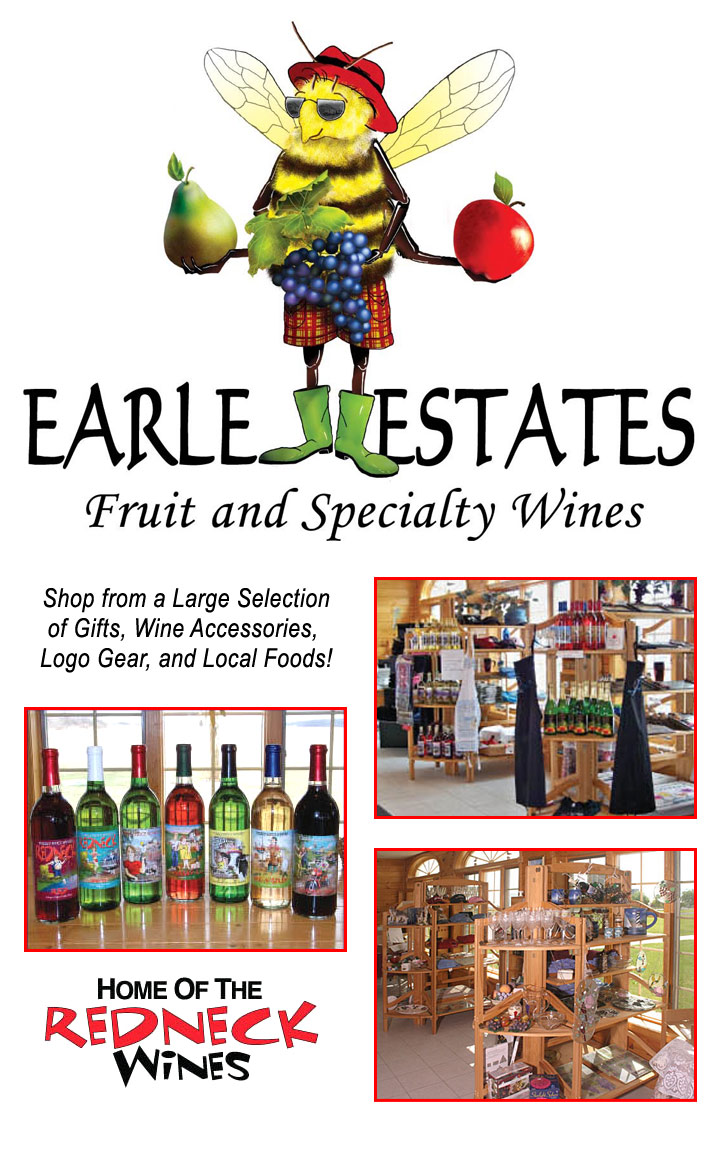 Earl Estates Meadery logo and images